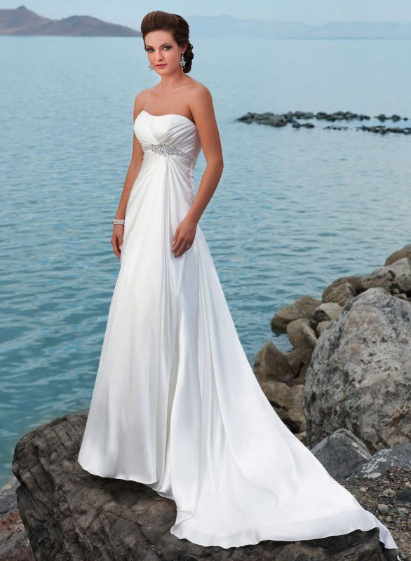 Wedding Dresses Beach Theme 2014 2015 Fashion Trends