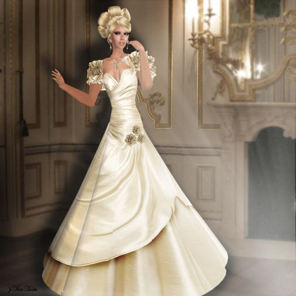 Wedding Dress White And Gold: White And Gold Wedding Dresses