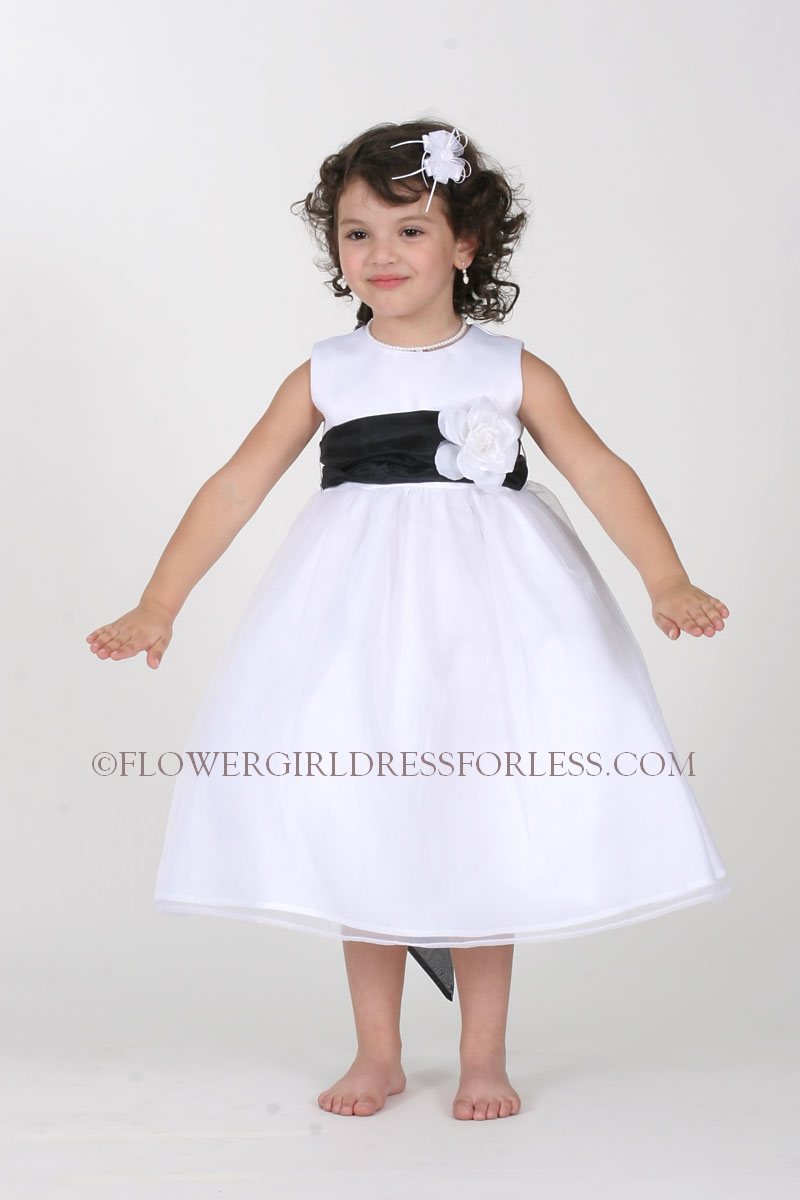The helpful Black and white flower girl yellow dress for