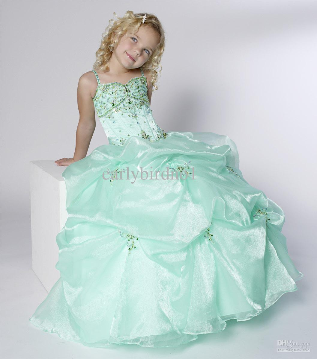Yellow Flower Girl Dresses Cheap 2014 2015