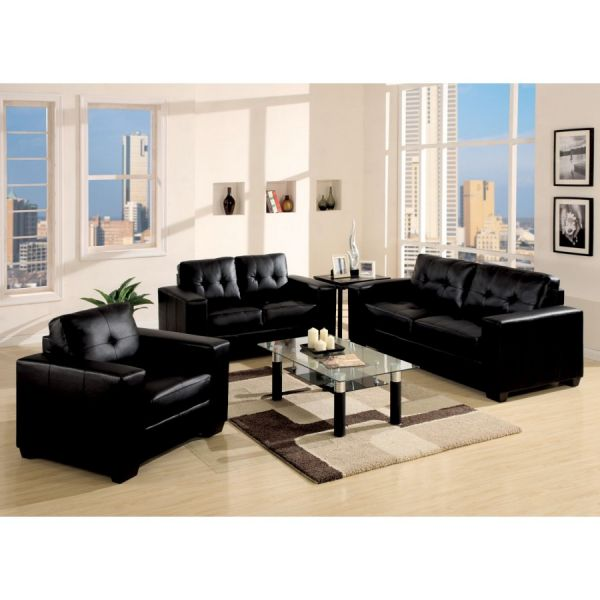 Black living room furniture decorating ideas 2014 2015 for Living room ideas with black leather sofa