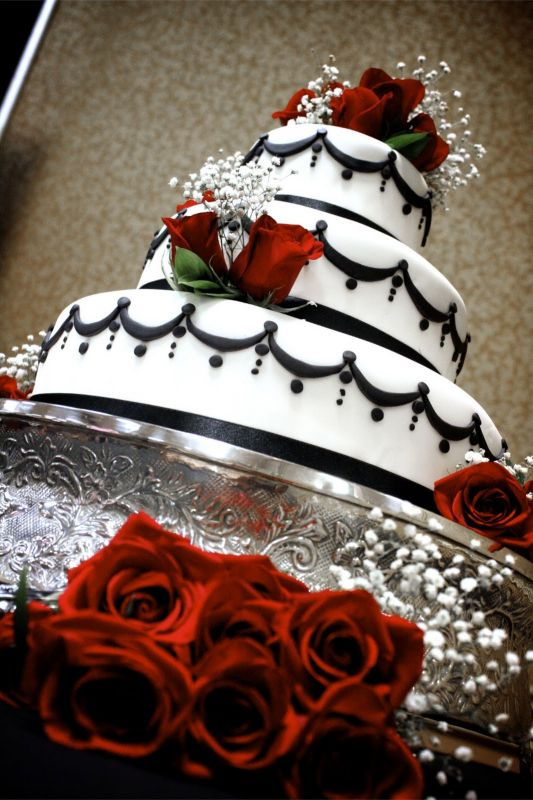 Black White And Red Wedding Cakes 2015 2016