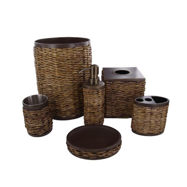 Brown bathroom accessories fashion trends 2016 2017 for Chocolate bathroom accessories