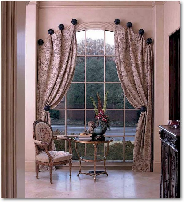 Drapery designs 2016 fashion trends 2016 2017 for Window treatment for oval window