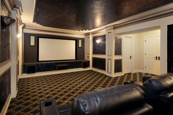 Comhome Cinema Decor : Corinth Sketch Abode Theater Carpet — Stargate Cinema