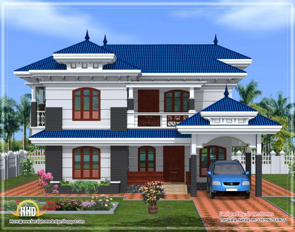 Front elevation indian house designs Indian house front design photo
