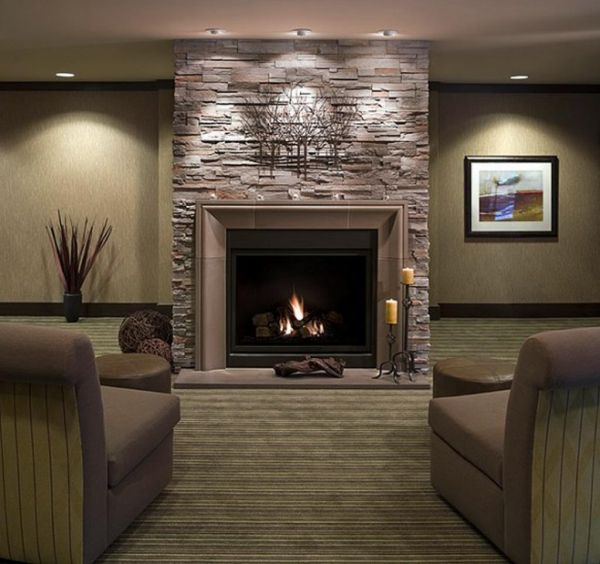 Where To Buy Room Decor: Living Rooms With Stone Fireplace Decorating