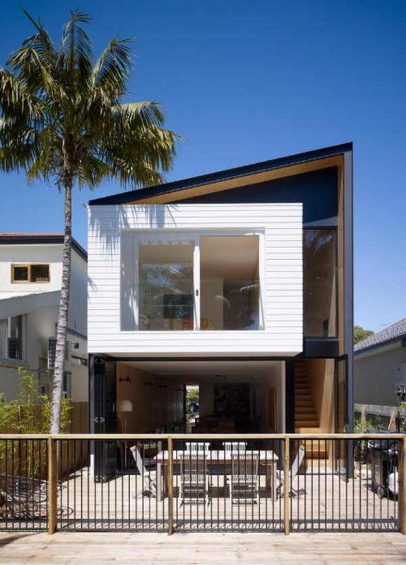 Narrow and long modern houses 2015 2016 fashion trends for Minimalist narrow house plans