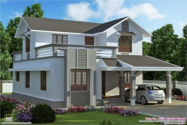 Simple two storey house design philippines 2016 fashion for Two storey house design philippines