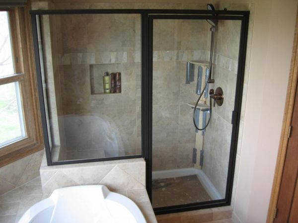 Small shower bath 2015 2016 fashion trends 2016 2017 for Bathroom glass door designs