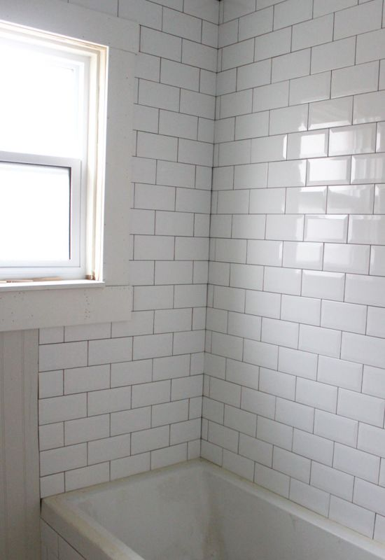 White Subway Tile With Dark Grout MEMEs