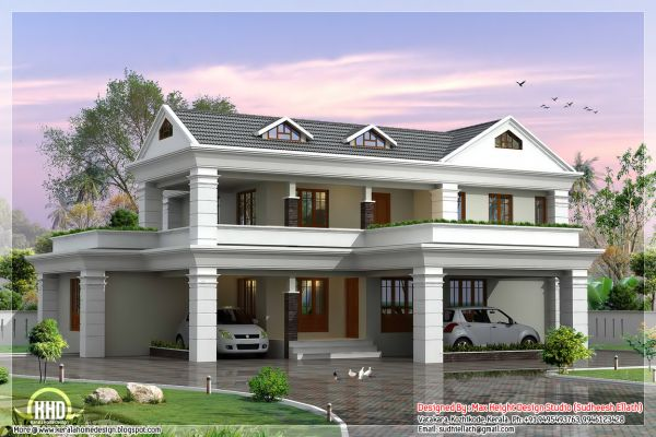 Storey Sloping Roof Home base Design Kerala Knowledgeable in Devise ...