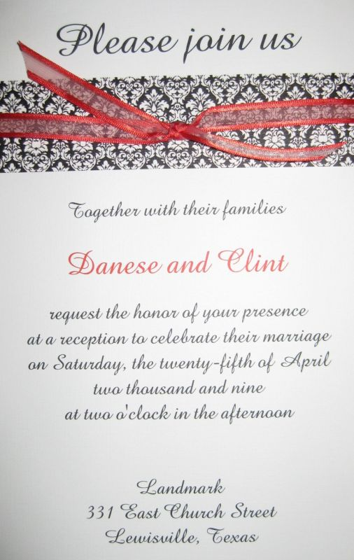 Wedding Reception Invitations 2014 2015
