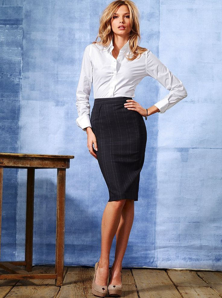 Trade your short pencil skirt for a long pencil skirt with a white blouse if you're looking for pencil skirt outfits for work! Or switch it up with a long white skirt and black top. We love all kinds of white skirts, like a white pencil skirt or a white maxi skirt-- both cute skirts!