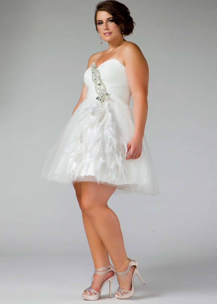Short Plus Size White Dresses – Shopping Guide. We Are ...