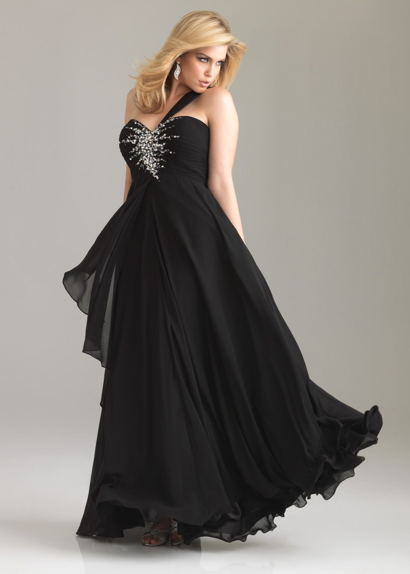 Plus Size Black Dresses With Sleeves