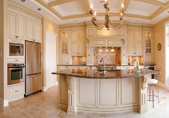 Italian tuscan kitchen 2014 2015 fashion trends 2016 2017 for Off white kitchen cabinet paint