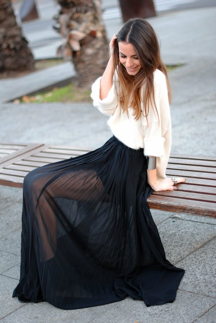 Maxi Skirt Outfits Tumblr 2015-2016 | Fashion Trends 2016-2017