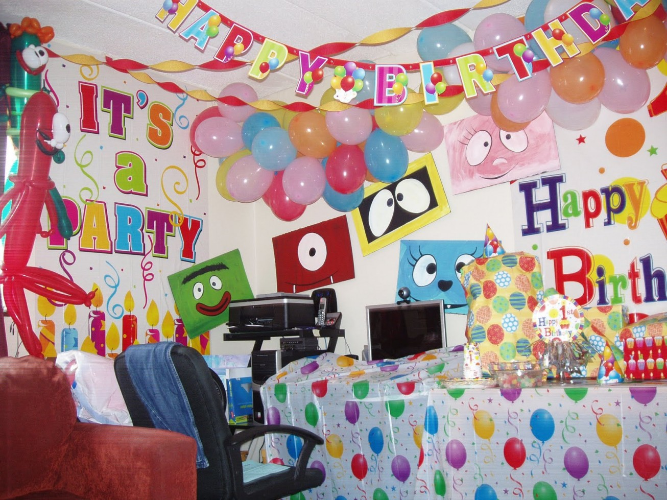 Birthday room decoration ideas 2016 2017 fashion trends for 1 birthday decoration images
