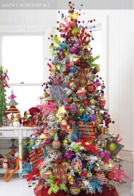 Christmas tree decorations ideas 2016 2017 fashion for 2014 christmas tree decoration