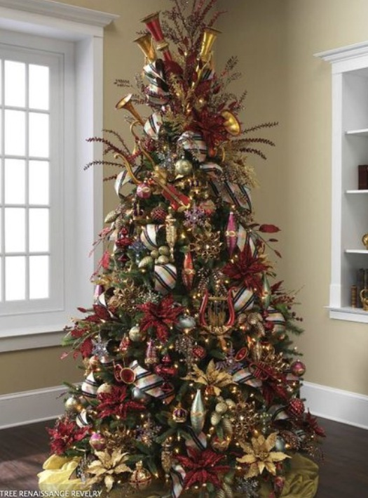 Christmas tree decorations 2014 red and gold 2015 2016 fashion trends 2016 2017 - Christmas tree decorating best ideas ...