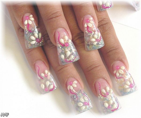 acrylic nails tumblr pink fashion trends