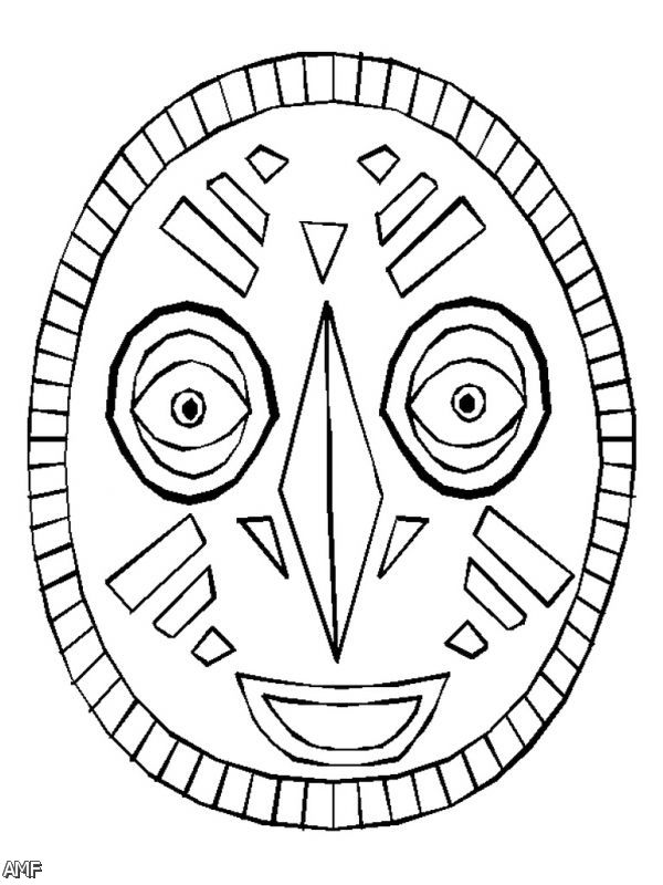 African Mask Coloring Pages 2015-2016 | Fashion Trends 2016-2017