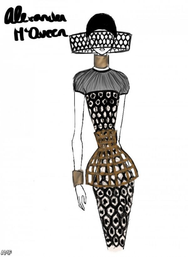 Alexander Mcqueen Fashion Sketches Shopping Guide We