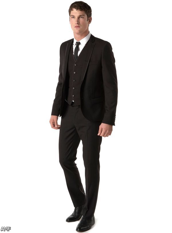 all black prom suits - photo #18