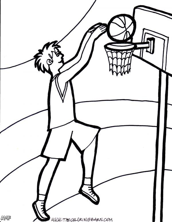 Basketball Court Coloring Pages
