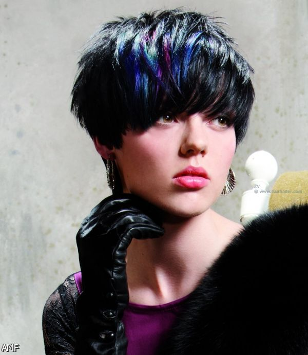 black hair with blue streaks 20152016 fashion trends