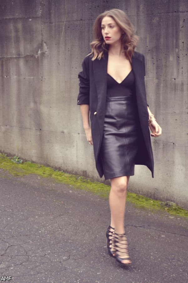 black leather pencil skirt outfit  shopping guide we are