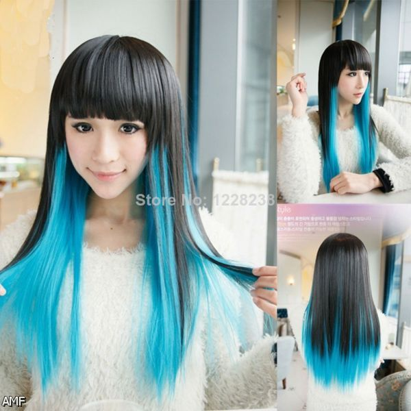 blue hair highlights tumblr 20152016 fashion trends