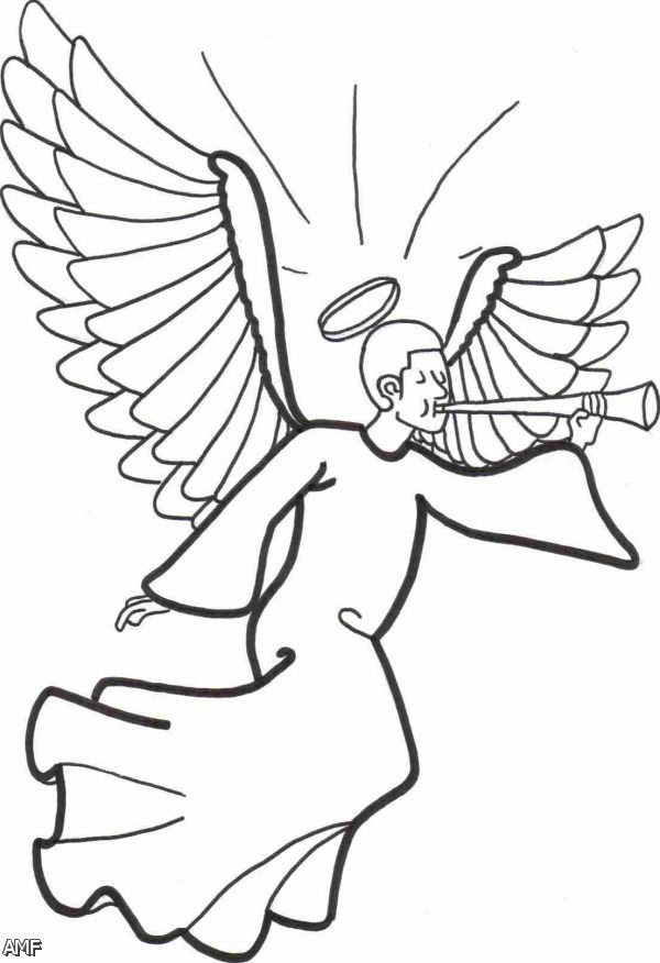 Angel Coloring Pages - GetColoringPages.com | 876x600