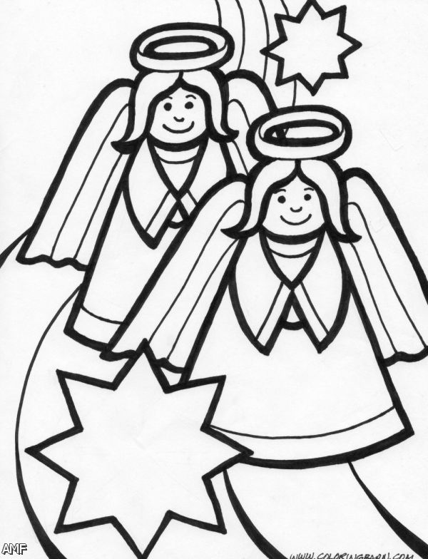 Christmas Angel Coloring Page | Shopping Guide. We Are ...
