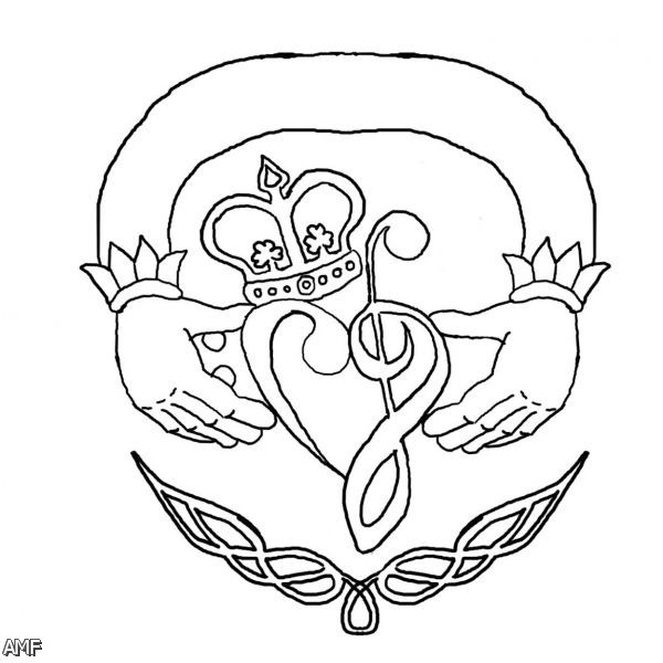 Claddagh Coloring Page