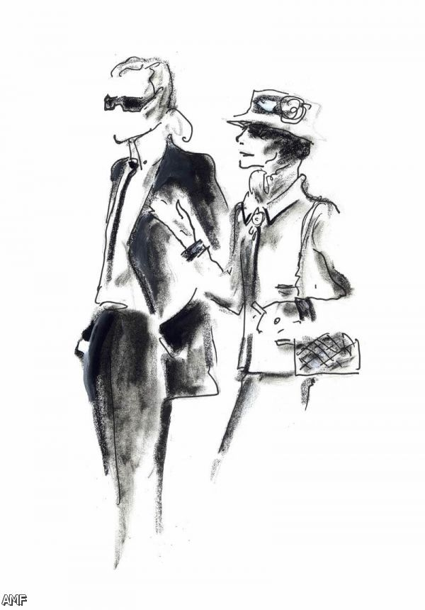 Chanel Coco fashion sketch pictures new photo