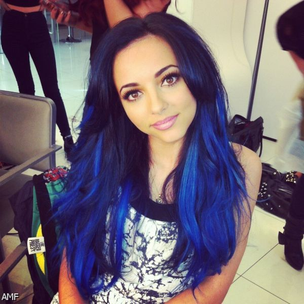 Dark Brown Hair With Electric Blue Tips 2015-2016 ...