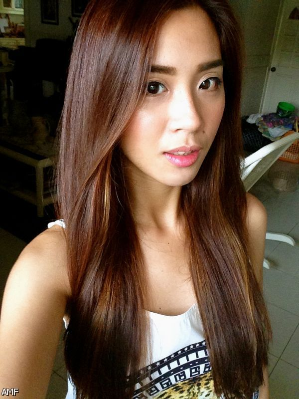 Propitious Brown Hairs breadth With Red Highlights Highlights ...