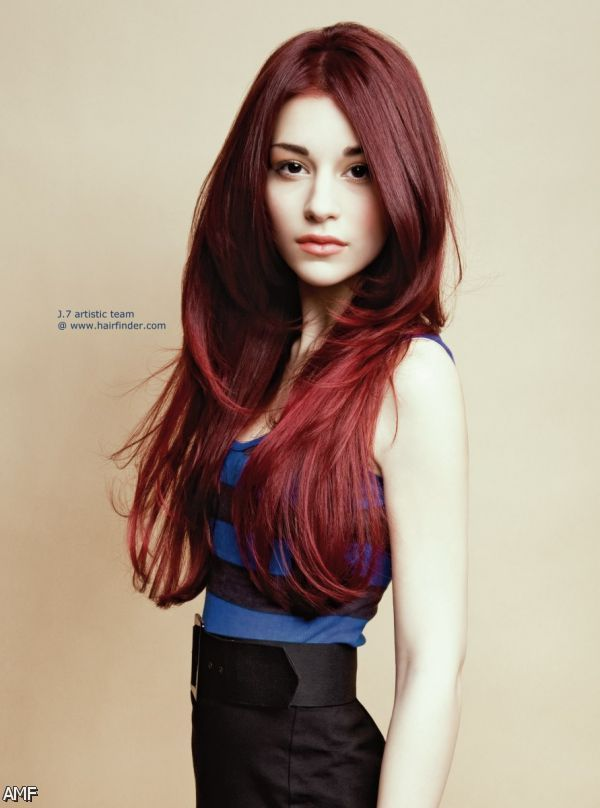 Brown Dark red hair color shades pictures catalog photo