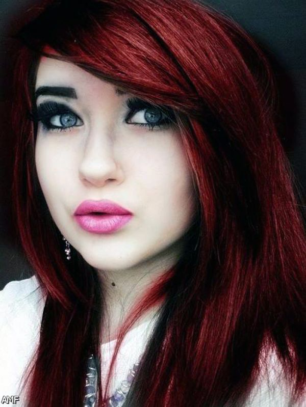 Dark Brown Red Violet Hair Color 2015 2016 Fashion