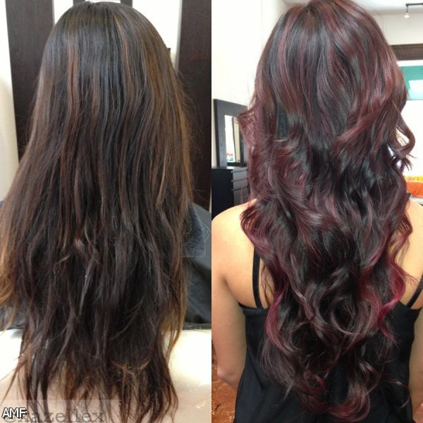Dark Brown Red Violet ... Dark Red Purple Brown Hair Color