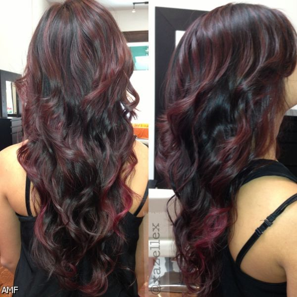 Dark Brown Red Violet Hair Color Shopping Guide We Are Number One