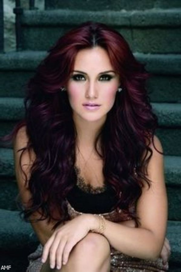dark brown with red tint hair color 2015 2016 fashion