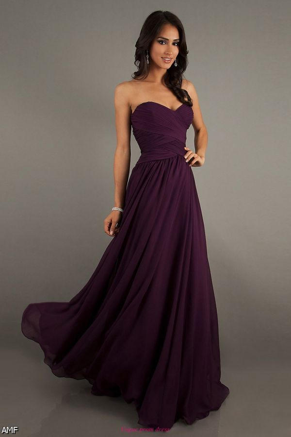 Dark Purple Chiffon Bridesmaid Dresses 2015 2016
