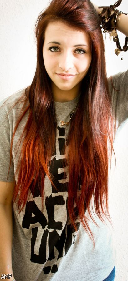 Dip Dye Black Hair Red 2015-2016 | Fashion Trends 2016-2017