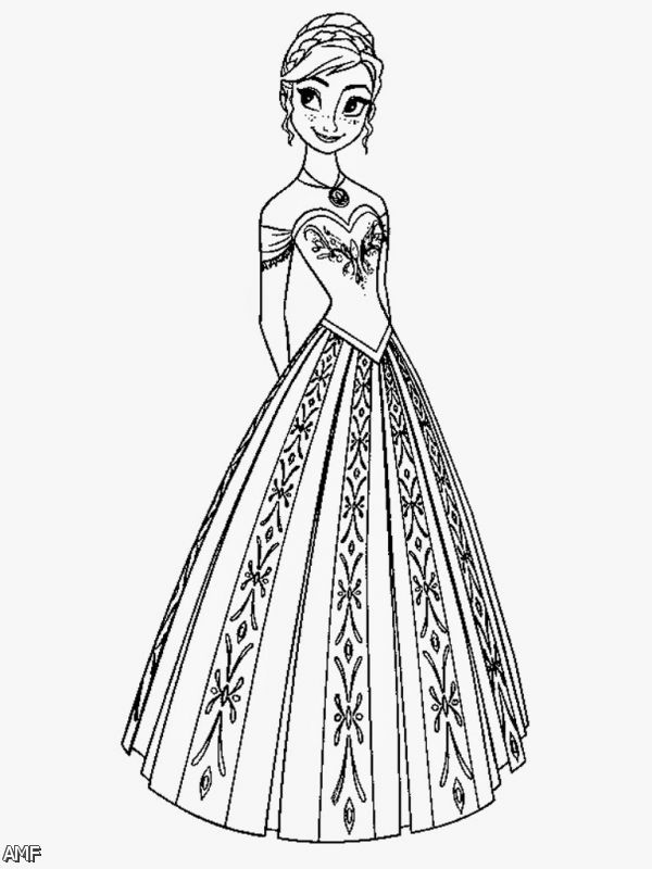 Disney Frozen Coloring Pages Anna 2015 2016