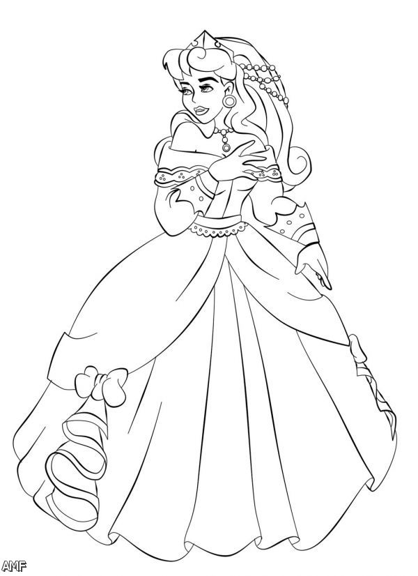 disney aurora coloring pages - photo#11