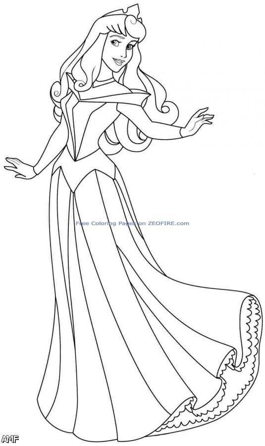 disney aurora coloring pages - photo#23