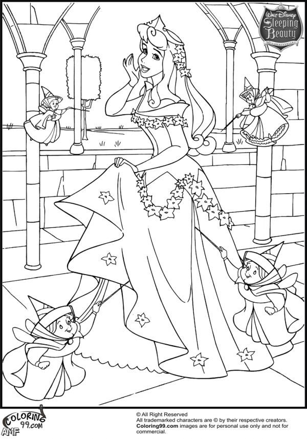 Princess Aurora Coloring Pages Games : Disney princesses coloring pages aurora